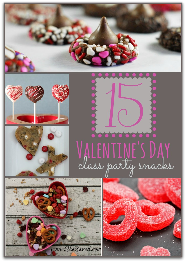 Valentine's Day Class Party Snacks