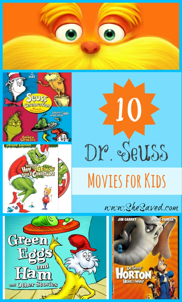 10 Dr. Seuss Movies for Kids