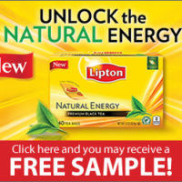 FREE Lipton's Natural Energy Tea Sample