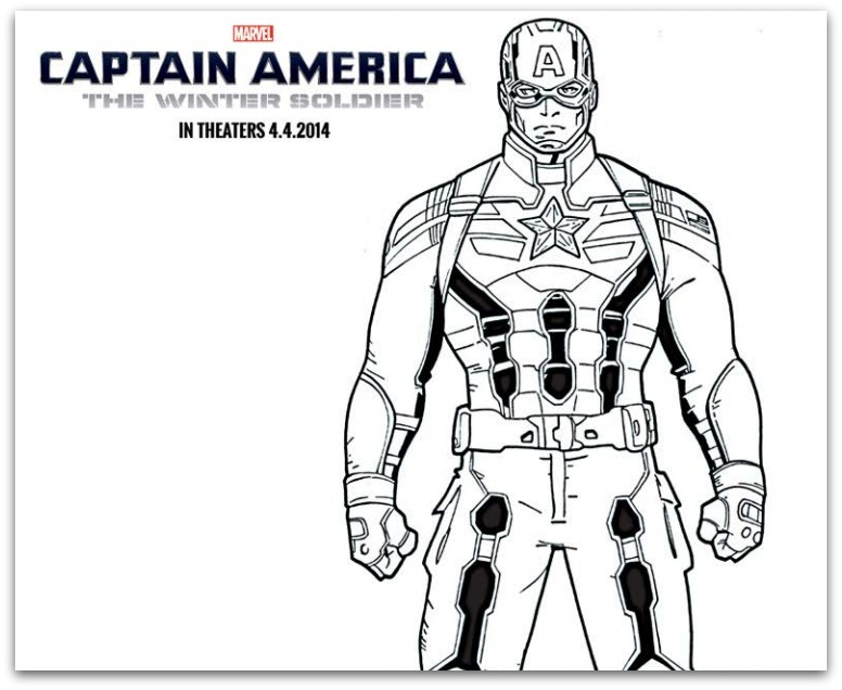 FREE Captain America: The Winter Soldier Coloring Sheets