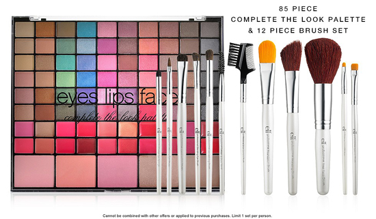 E.L.F. Complete the Look Palette + Brush Set For $3 With Purchase