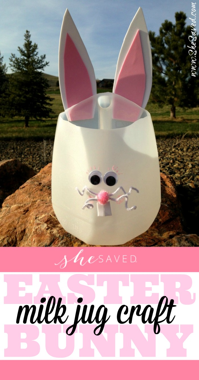 Easter Bunny Milk Jug Craft