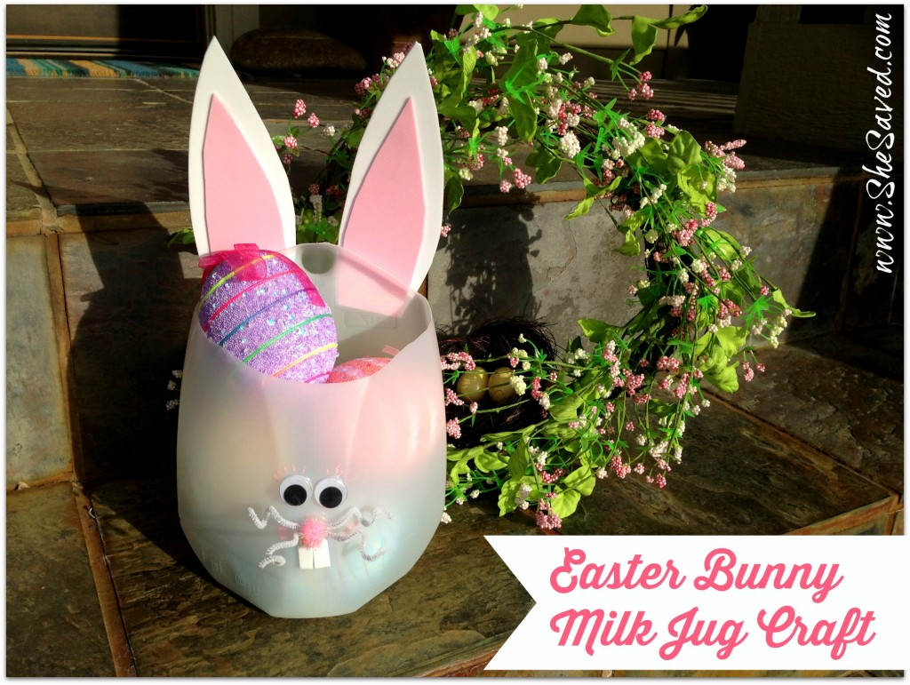 Easter bunny milk jug craft shesaved negle Image collections