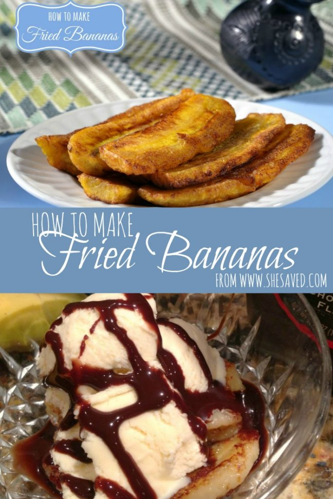 Have you ever wondered how to make fried bananas? They are a super easy and delicious dessert that your family will love! ~ from SheSaved.com