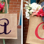 Personalized Burlap Totes