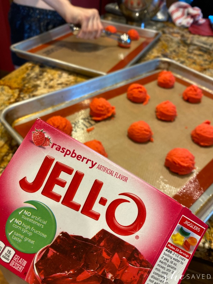 Recipe for making cookies with jello