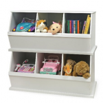 Badger Basket Three Bin Storage Cubby