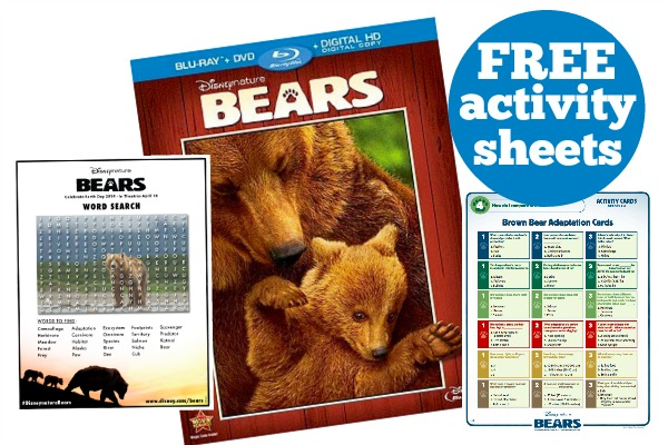 Bears Activity Sheets