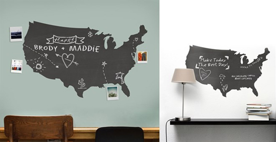 Chalkboard US Map Decal