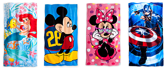 Disney Beach Towels For $12.50