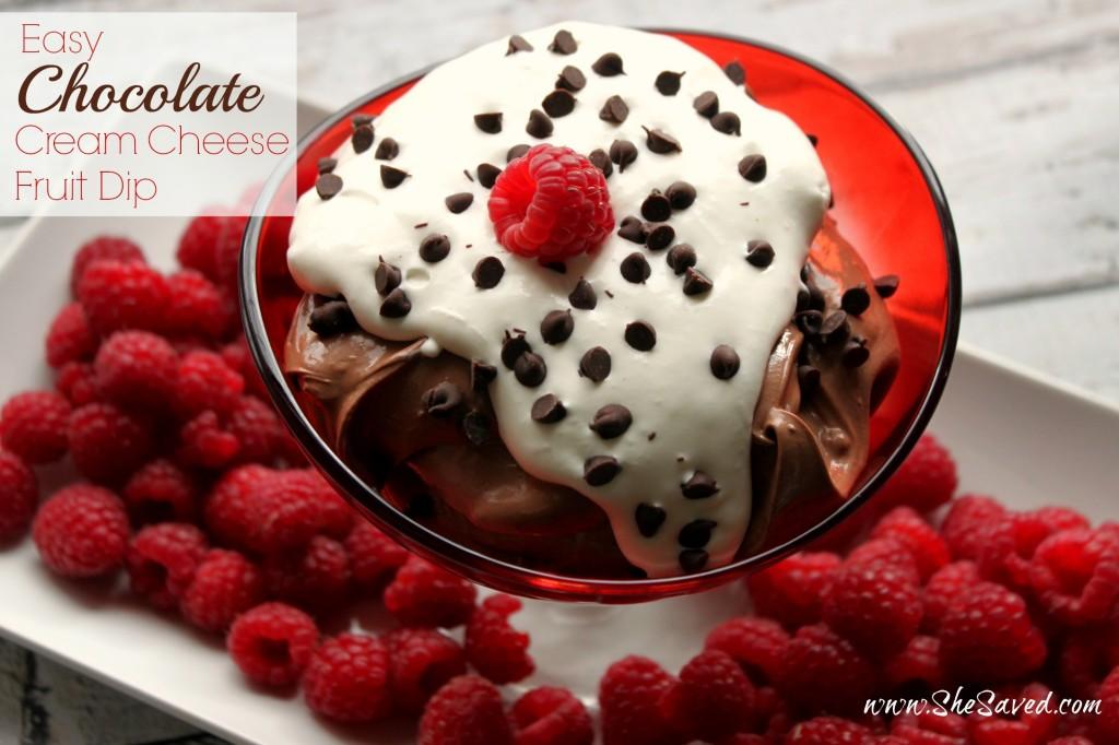 Easy Chocolate Cream Cheese Fruit Dip