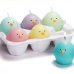 Egg Crate Easter Candles