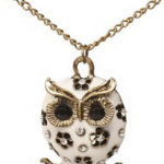 Enamel Owl Necklace