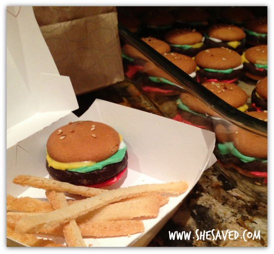 Hamburger Cookies and Fries