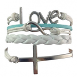 Love Anchor Rope Bracelet