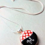 Minnie Inspired Initial Necklace