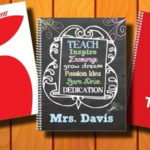 Personalized Teacher Appreciation Notebook