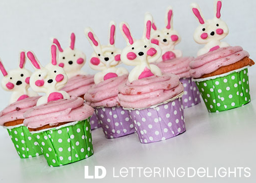 Easter Bunny Cupcake Toppers