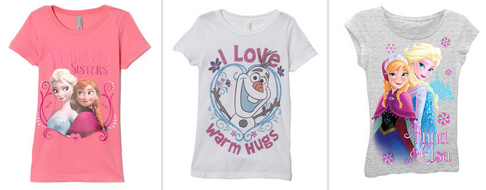 FROZEN FANS! Save up to 65 % off on FROZEN Merchandise Today!