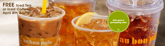 Au Bon Pain | FREE Iced Coffee Or Iced Tea