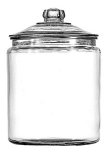 Anchor Hocking Glass Cookie Jar