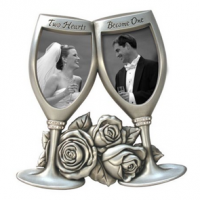Champagne Glasses Metal Wedding Frame For $10.09 Shipped