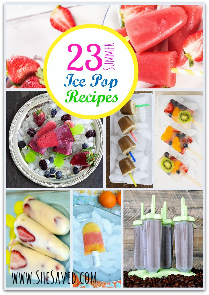 Summer Ice Pop Recipes