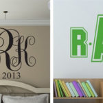Large Monogram Decals For $15.99