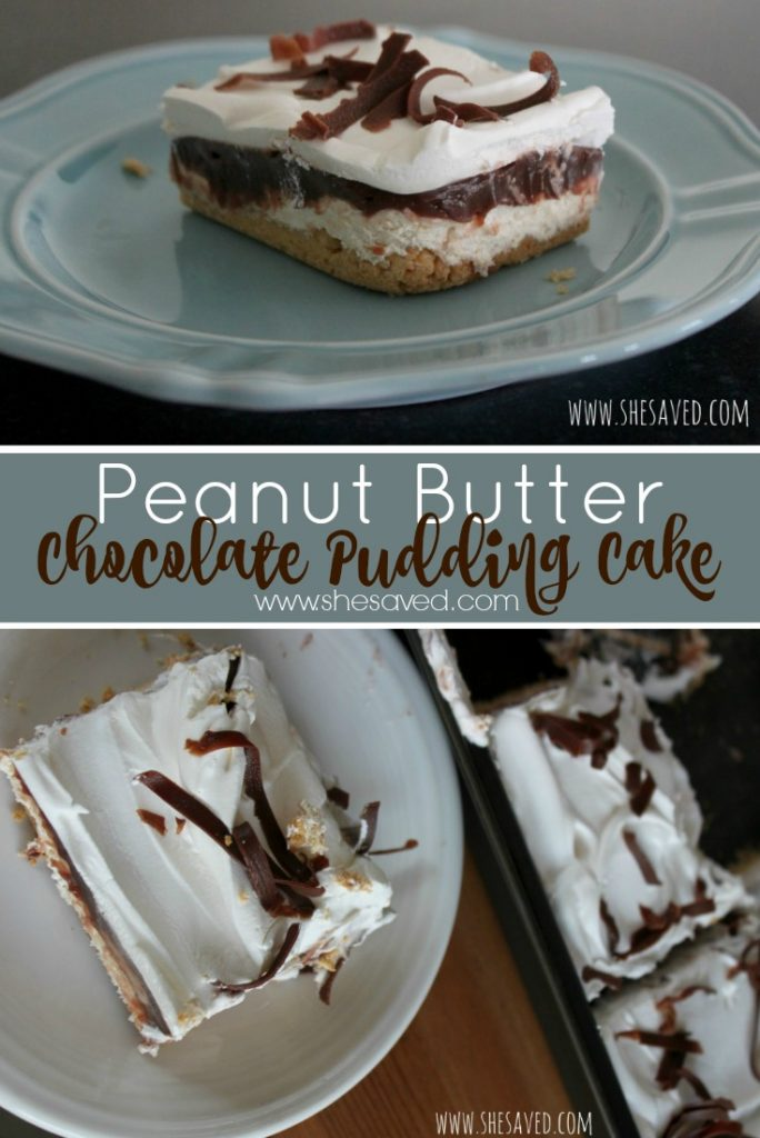 For a fun and EASY dessert try this Peanut Butter Chocolate Pudding Cake recipe, it will win the day and wow your guests!