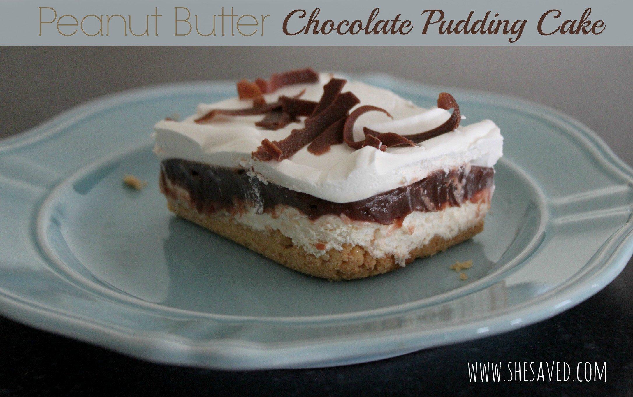 Peanut Butter Chocolate Pudding Cake