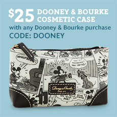 Disney Dooney & Bourke $25 Cosmetic Case With Purchase