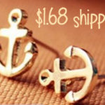Anchor Stud Earrings For $1.68 Shipped