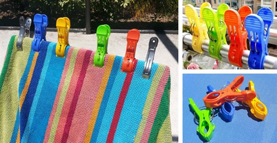 Beach Towel Clips Beach Towel Clips Set of 4 For