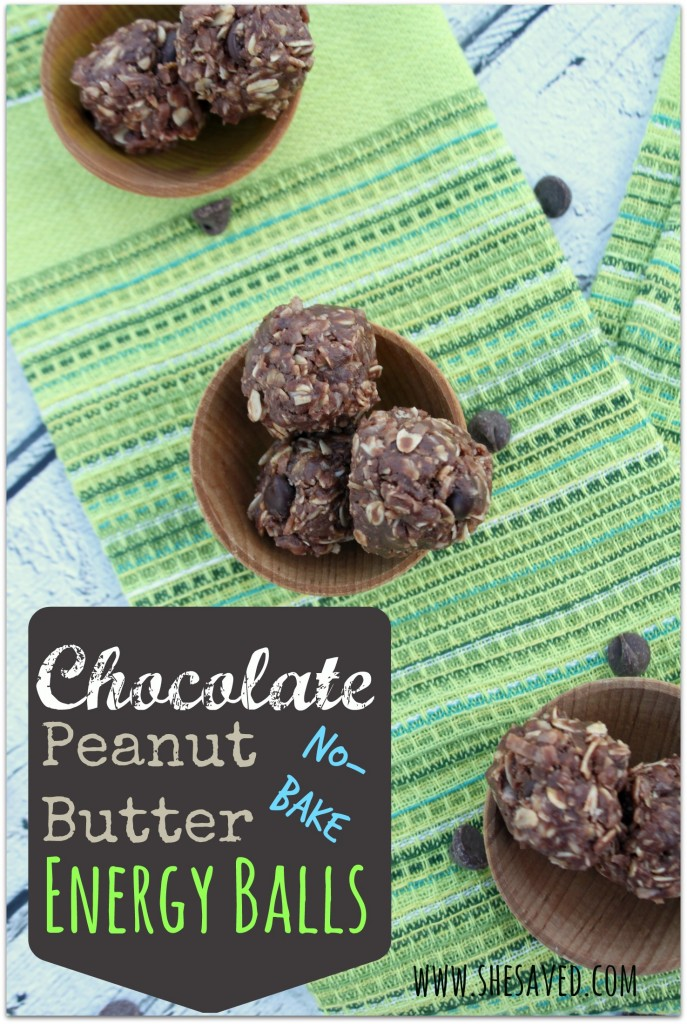 Chocolate Peanut Butter No-Bake Energy Balls