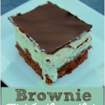 Easy Brownie Mint Ice Cream Cake