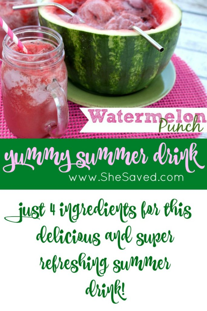 This Watermelon Punch will be your new summer favorite! With only a few ingredients, it's an easy and refreshing summer drink for the whole family!