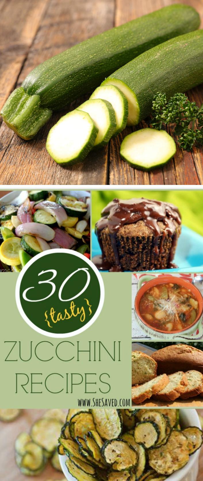 30 Zucchini Recipes that you will love