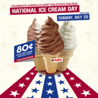 Carvel National Ice Cream Day Junior Cups For 80¢