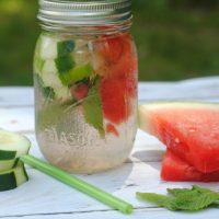 Cucumber Watermelon Infused Water Recipe