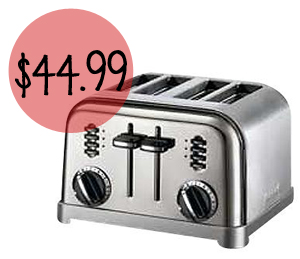 Cuisinart Metal Classic 4-Slice Toaster For $44.99