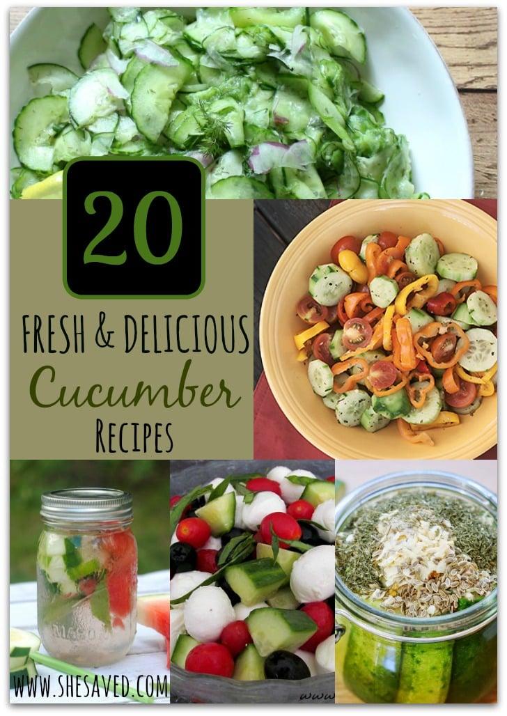 20 Fresh & Delicious Cucumber Recipes