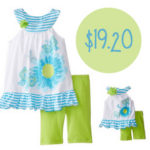Dollie & Me Flower Print Set For $19.20 Shipped