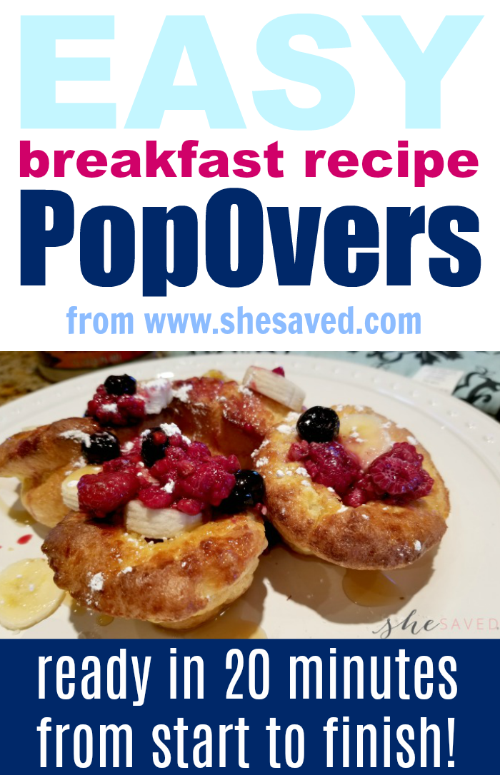 This Easy Popovers Recipe will be your new favorite for a quick and delicious breakfast!