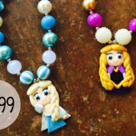 Frozen Inspired Handmade Clay Necklaces