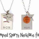 Handstamped Sports Necklace