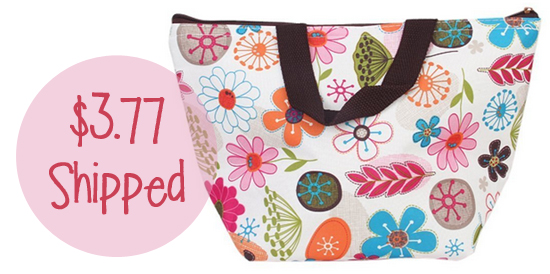 Insulated Floral Tote Bag