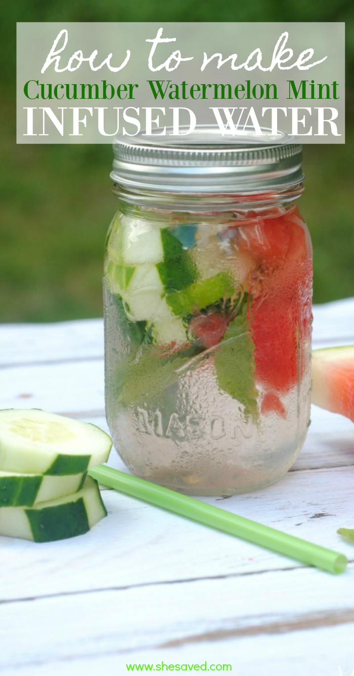 How to make cucumber watermelon infused water