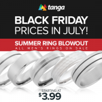Tanga Ring Sale Men's Rings As Low As $3.99