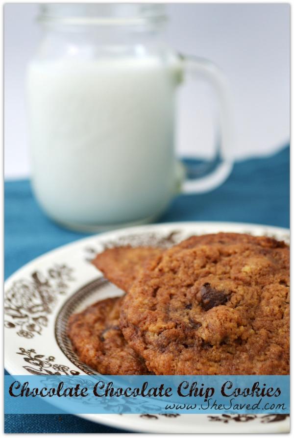 Chocolate Chocolate Chip Cookies Recipe - SheSaved®