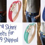 Floral Skinny Belts